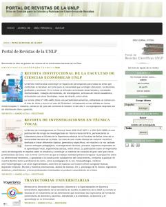 Portal de Revistas de la UNLP